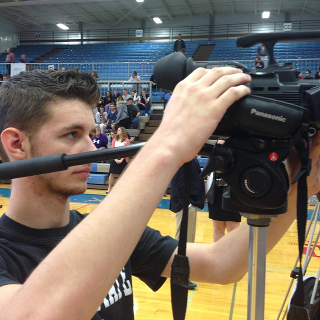 James McCullough was on media row for Gov. Nixon's speech at Hillcrest Friday.