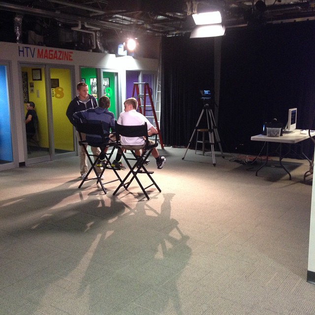 Setting up the HTV studio in reverse.