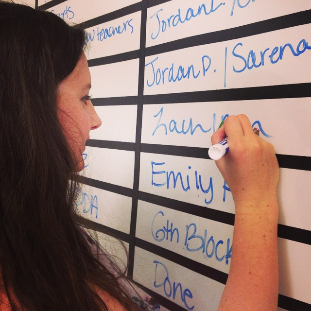 Executive Producer Cheyanne Broyles finalizes assignments for the next edition of