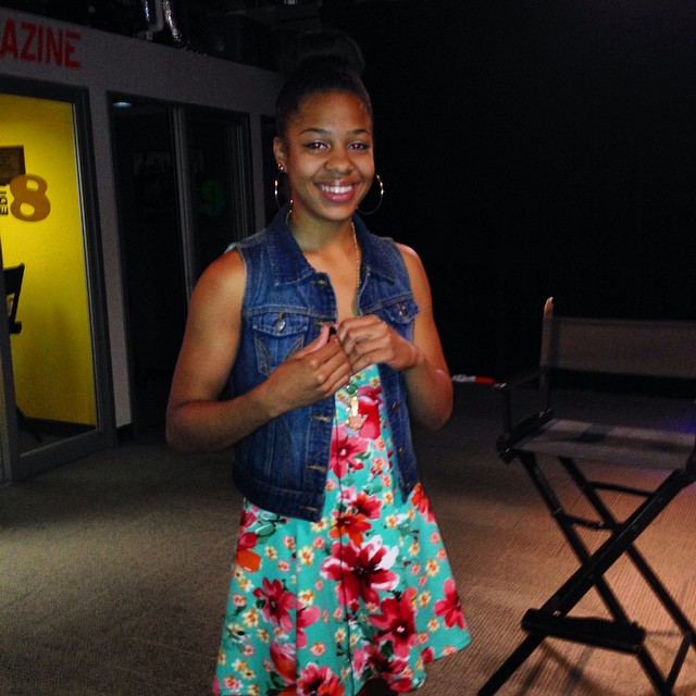 Laurnea Jarmin gets ready to record her commentary about fashion. Or lack of it.