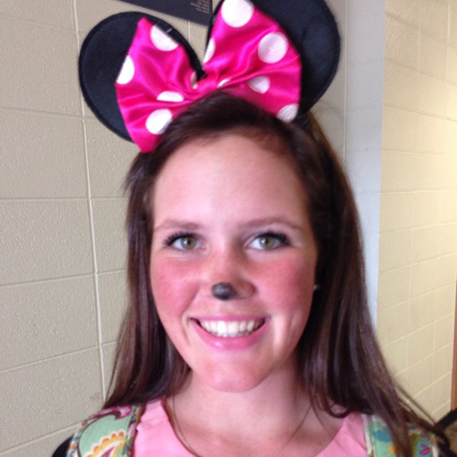 Disney Day and Mackenzie Hallam was happy to participate.