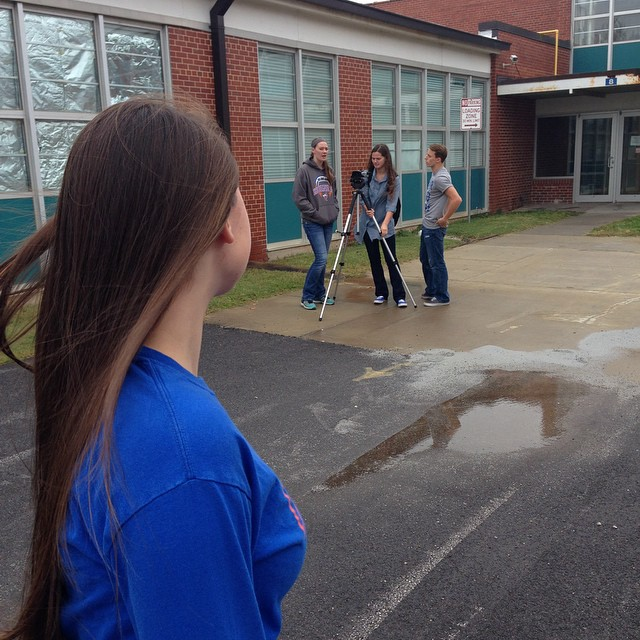 Broadcast I students are producing 60-second chase videos this week.