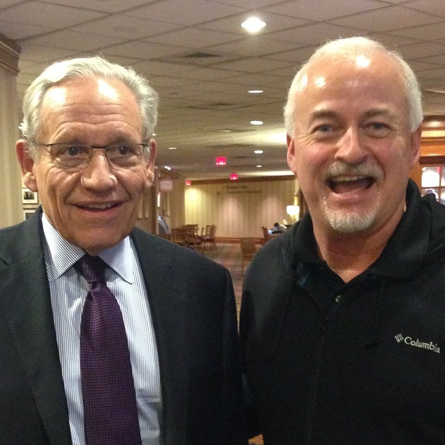 So this happened. Coach D helped keynote speaker and journalism legend Bob Woodward find his JEA host.