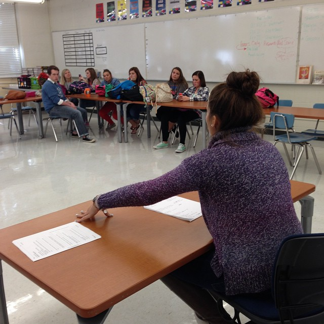 News Director Emily Laster leads the HTV pitch meeting.