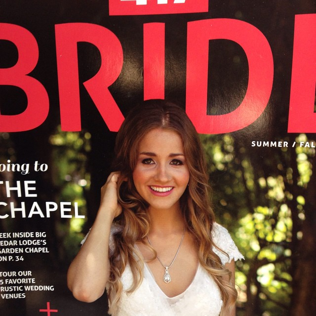 Former HTVer Sarah Thomas Stracke on the cover of 417 Bride, still available in stores around Springfield.
