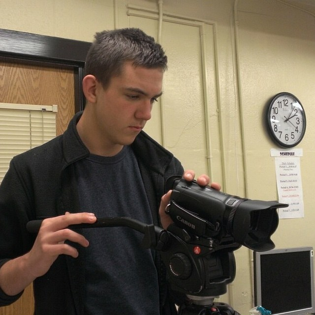 Colton Hames shoots footage at the Reed Academy for HTV 217, debuting next week.