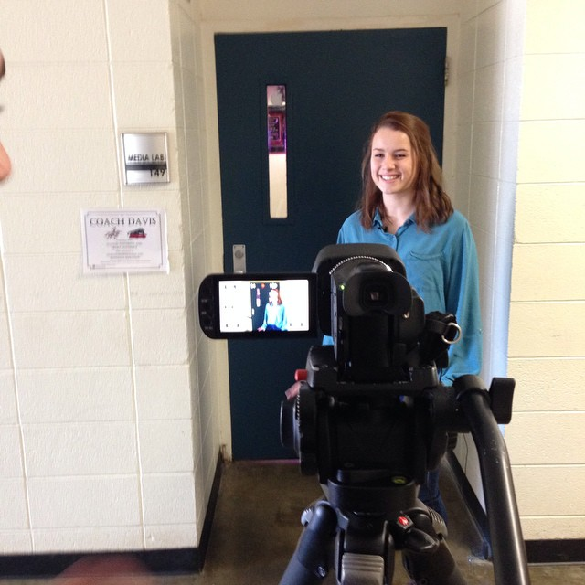 Denise records a standup for her HTV story, coming up on the next show.