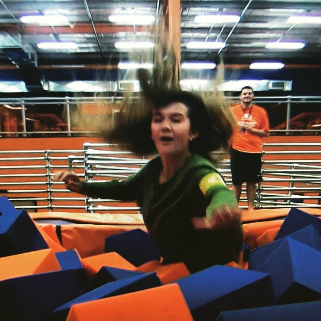 Sophomore reporter Emily Henderson checks out Sky Zone for the next HTV Magazine.