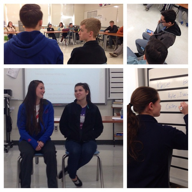 The HTV Hot Seat as sophs pitch stories.