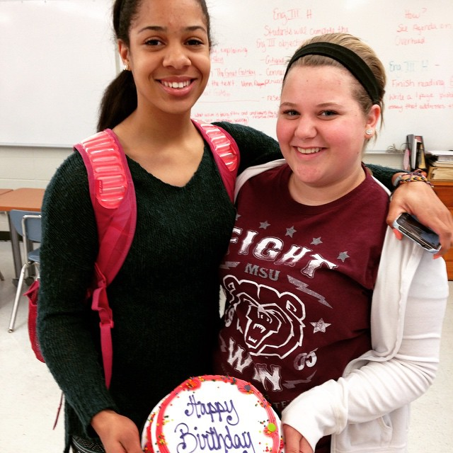March birthdays for Laurnea and Abbi in HTV-land. (Lindsey Cunningham not pictured due to speech tourney)