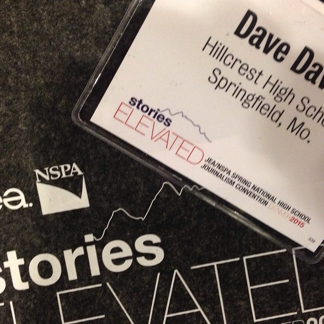 Coach Davis is on site in Denver with a bunch of journalism teachers and students. #nhsjc