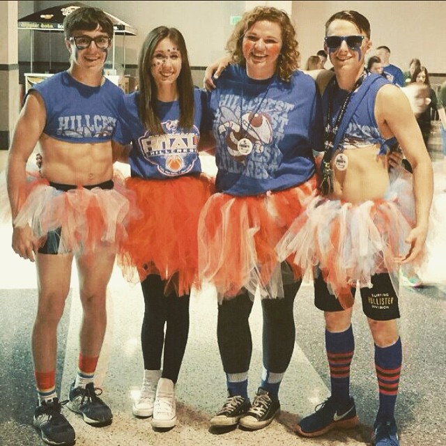 One more shot of some crazy super fans who supported the Hornets and Lady Hornets last week at state.