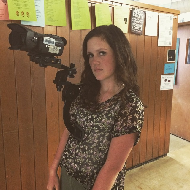 Mackenzie Hallam using the shoulder mount for a shoot. #technology